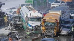 В Канаде в ДТП попали одновременно более 100 авто: есть жертвы, десятки пострадавших