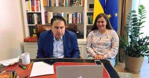 Саакашвили и Ермак провели конференцию с послами G7: что обсуждали стороны