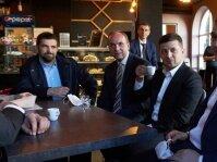 Владимир Зеленский в кафе